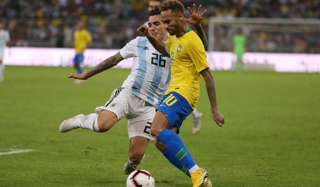 Argentina perdió ante Brasil en el amistoso internacional