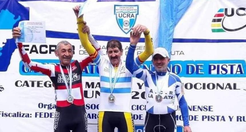 Miguel Lubo medalla de Oro en el campeonato argentino de Pista máster