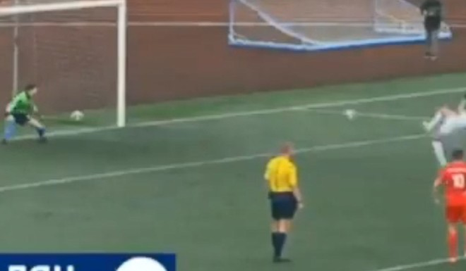 El gol de penal más raro de la historia