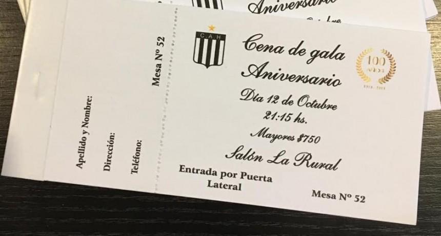Ultimas tarjetas para la Cena Aniversario del club Huracán
