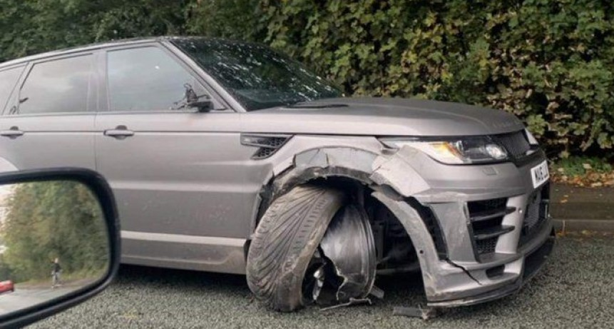 Agüero chocó con su camioneta de camino a la práctica de Manchester City