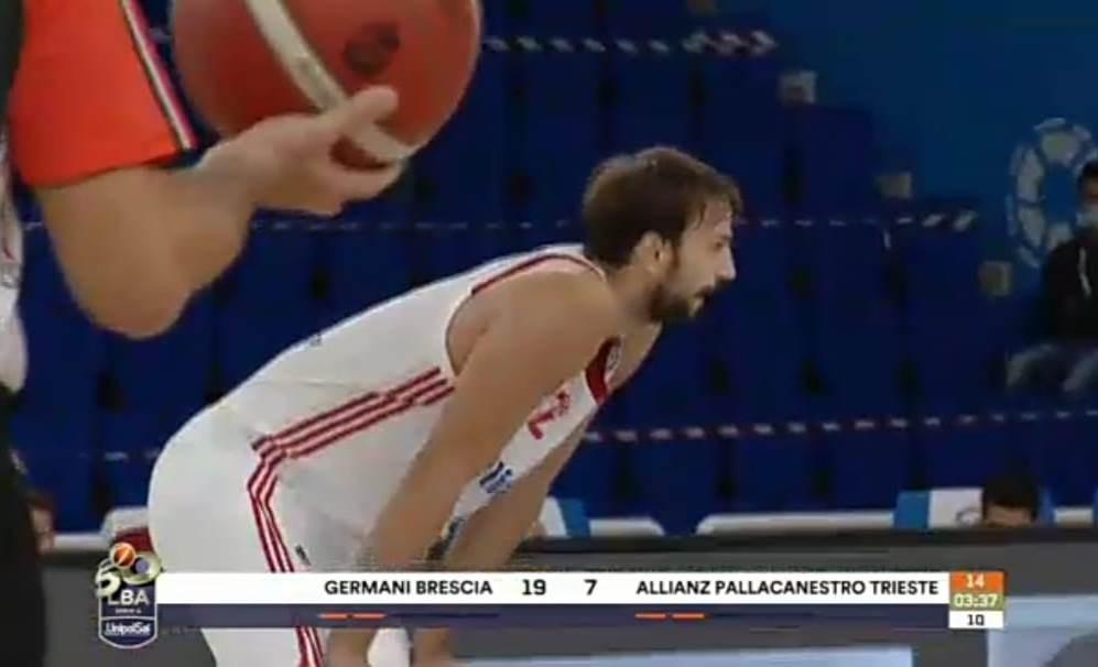 Ocho puntos para Marcos Delía en la derrota del Trieste ante Brescia