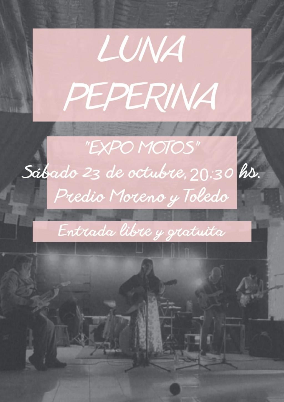 Este sábado: Recital de Luna Peperina en la Expo Motos