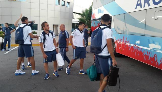 La Selección Argentina ya está en Belo Horizonte y espera por Messi