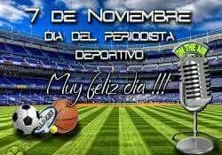 7 de noviembre Día del Periodista Deportivo