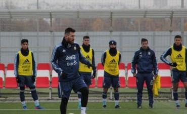 Primer entrenamiento de la Selección Argentina en Moscú