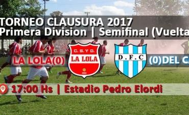Se definen este domingo los finalistas del Torneo de Primera división