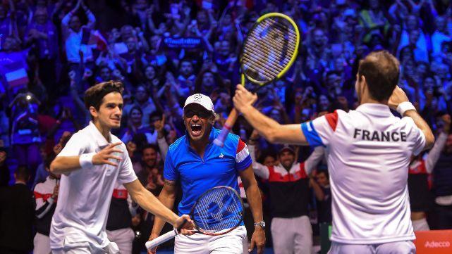 Francia ganó el dobles y quedó