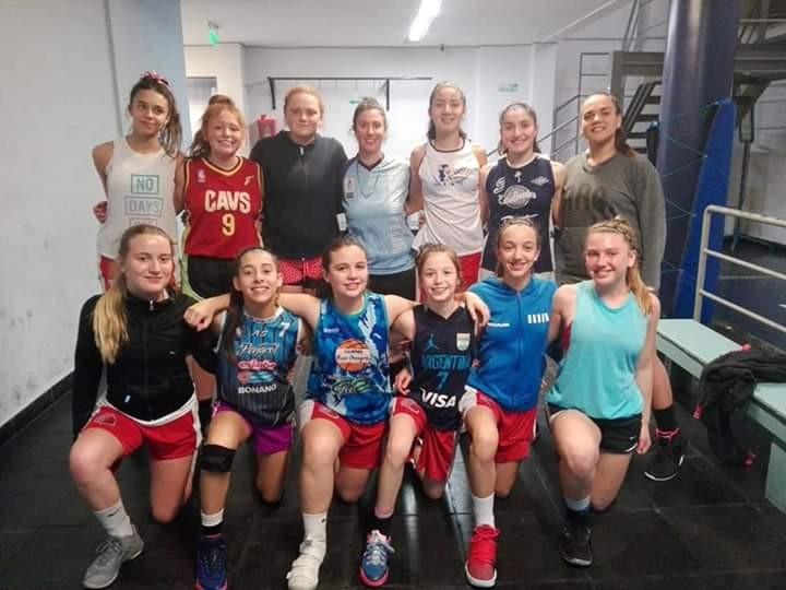 Belén Rojas en los entrenamientos de la selección de Buenos Aires