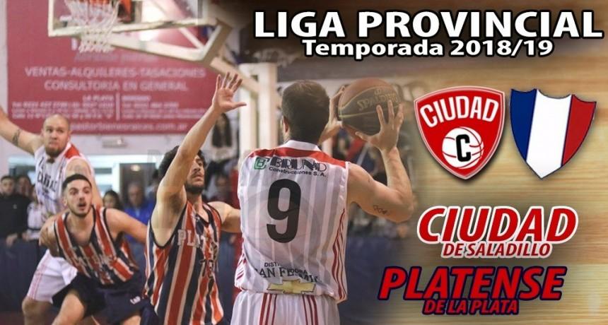 Ciudad de Saladillo recibe este viernes a Platense de La Plata