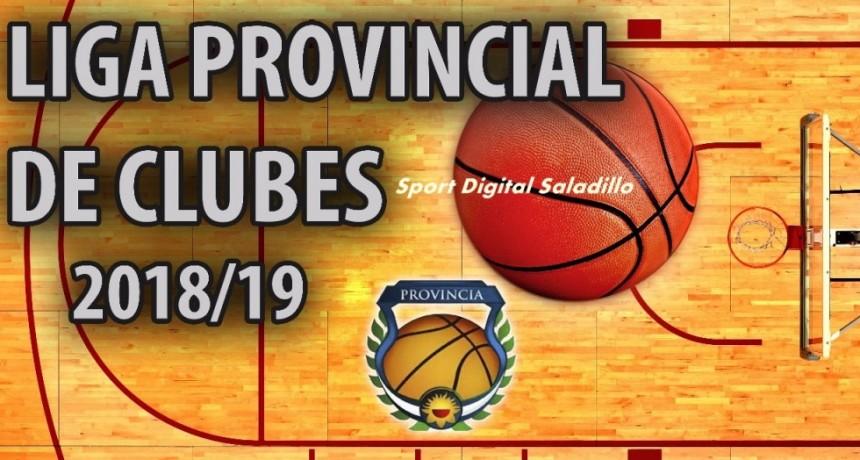 Programa completo sexta fecha del Provincial de clubes de Basquet