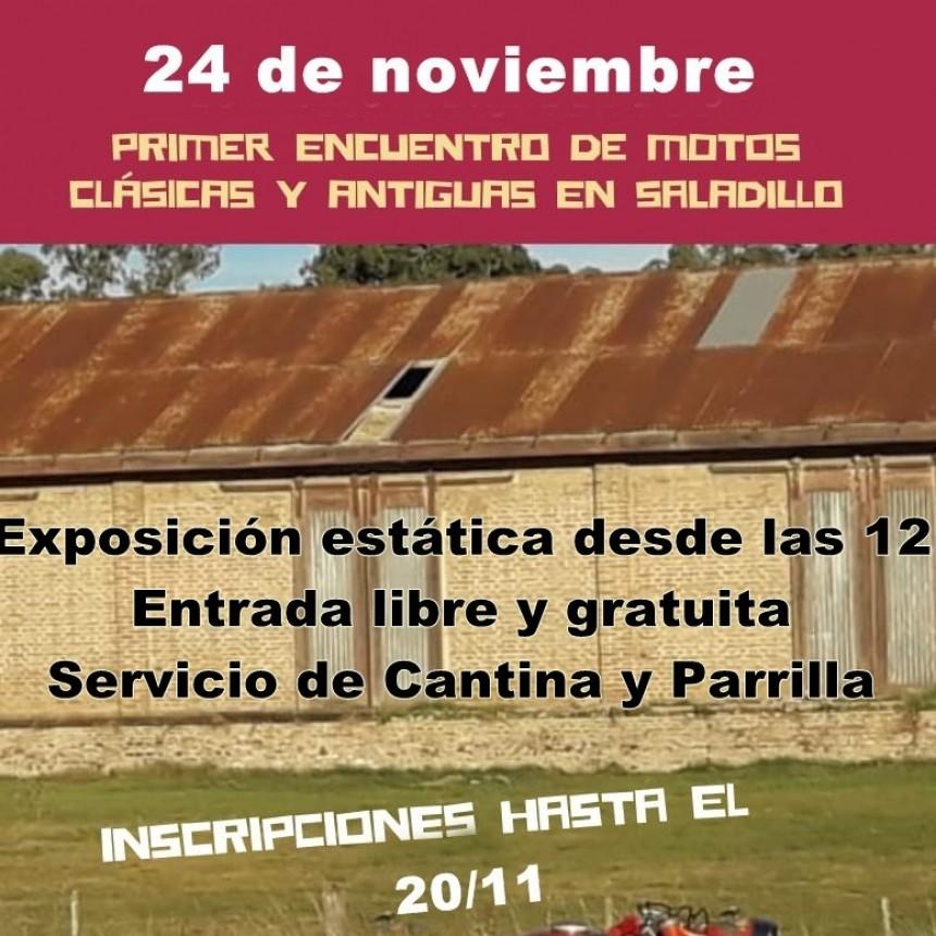 Primer Rally de Motos Clásicas y Antiguas en Saladillo