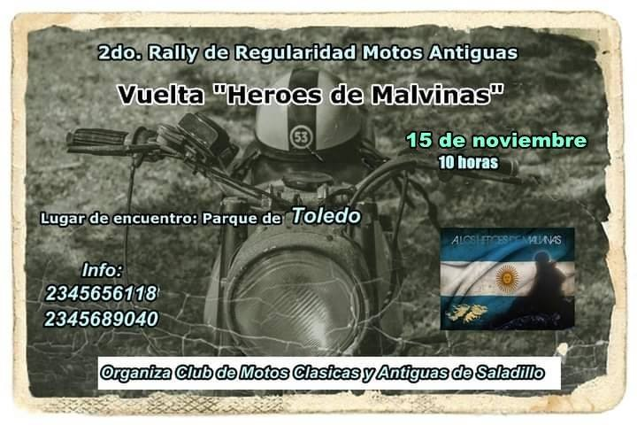 Segundo Rally  para Motos Clásicas y Antiguas en Saladillo