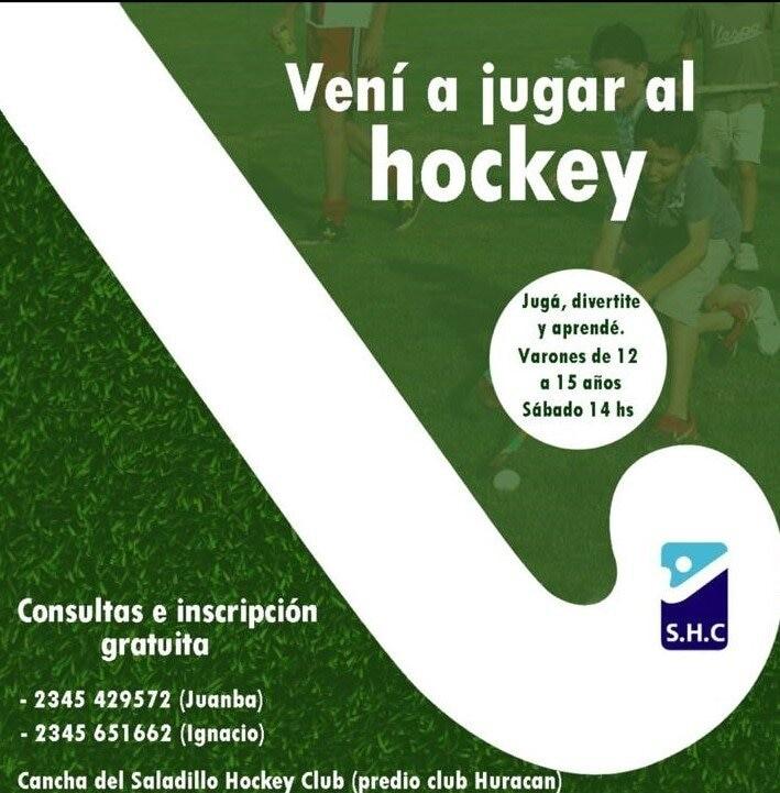 Saladillo Hockey convoca a niños locales a practicar gratuitamente