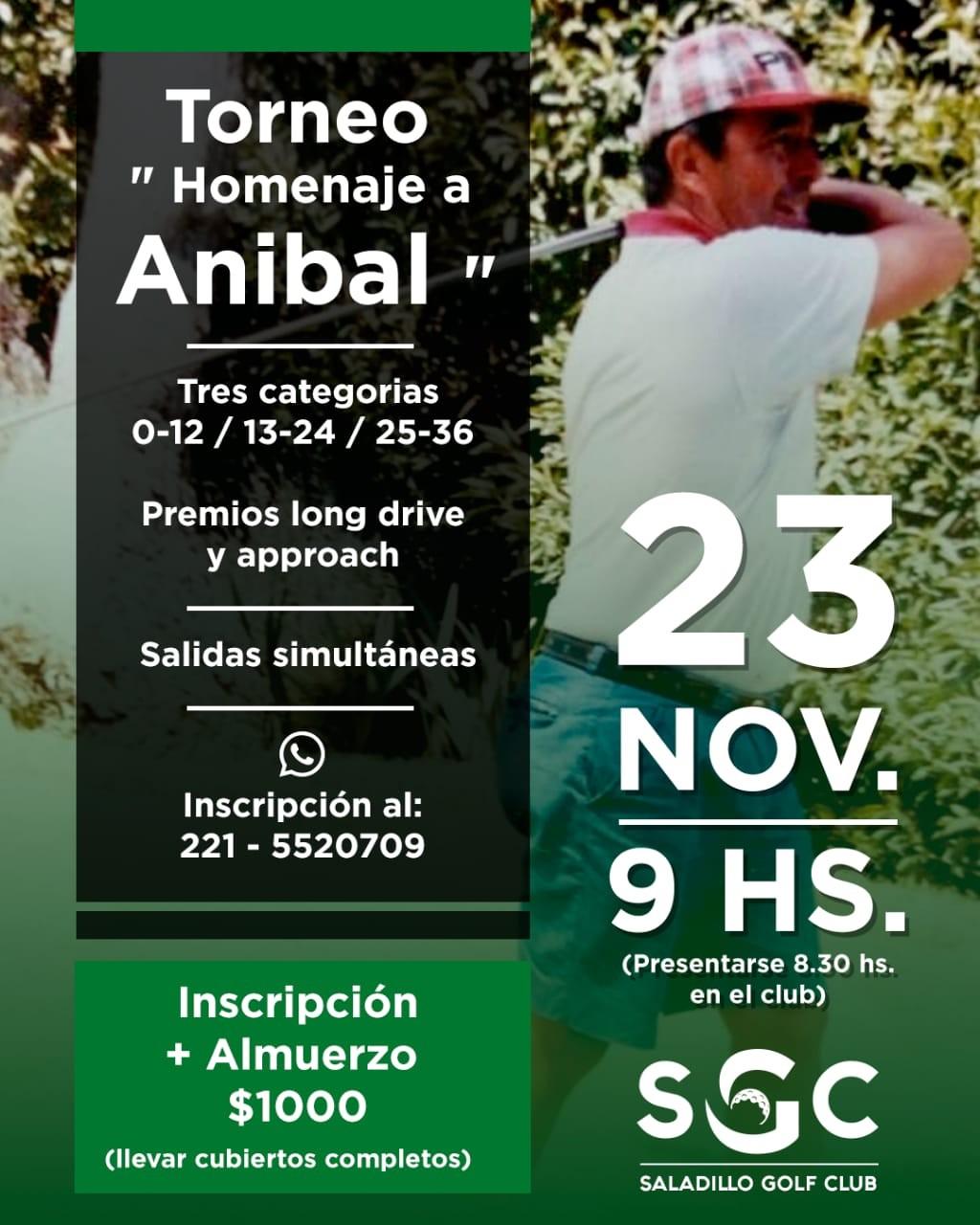 "Torneo ""Homenaje a Aníbal Massaccesi"