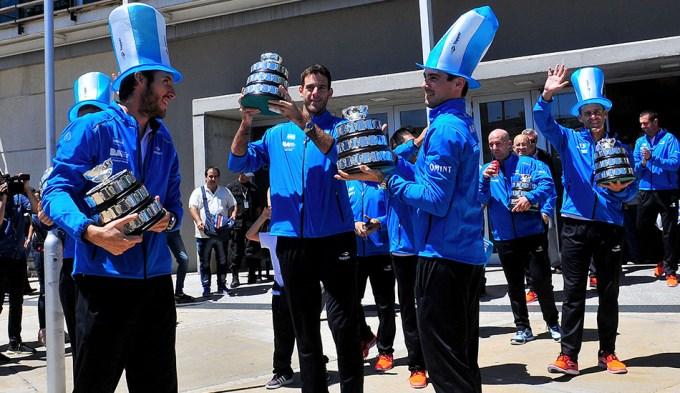 Los campeones de la Davis serán agasajados en La Bombonera