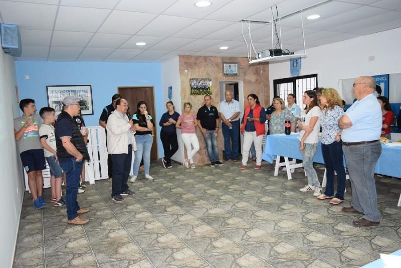 Salomón participó de la inauguración de la Filial de Racing en Saladillo