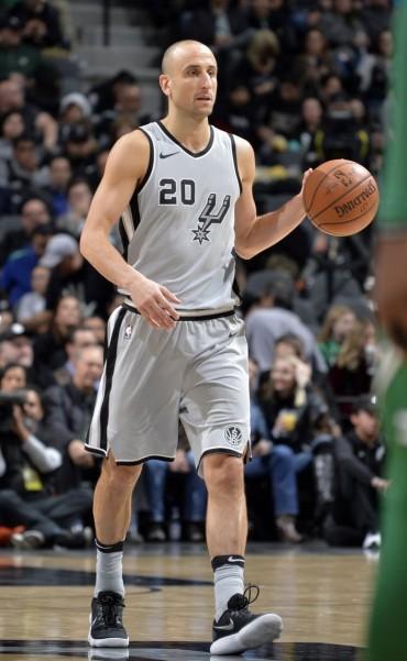 Lo hizo de nuevo: Manu Ginóbili metió el triple ganador de los Spurs