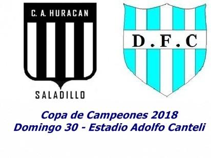 Huracán y Defensores de Del Carril juegan por la Copa de Campeones