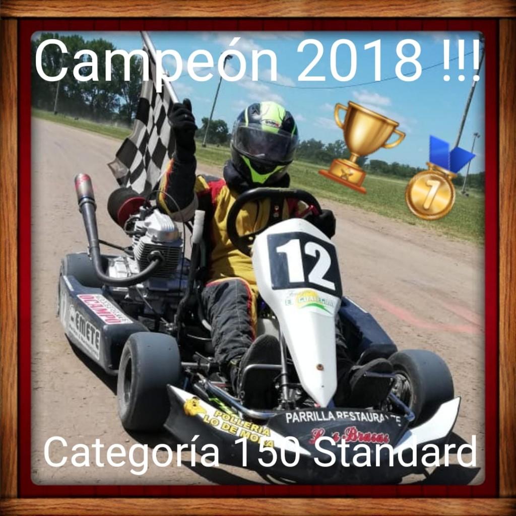 Sergio Mancinelli se coronó campeón del Karting del Sur Bonaerense