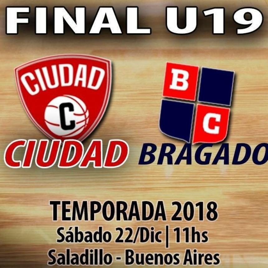 Hoy final de la categoría sub19 entre Ciudad y Bragado club
