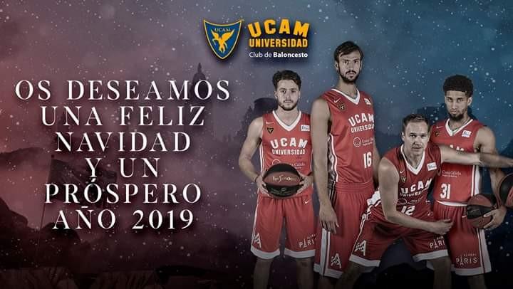 Desde el UCAM MurciaCB, os deseamos una Feliz Navidad y un próspero año nuevo